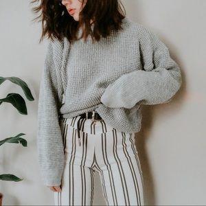 VINTAGE • waffle knit texture oversized sweater